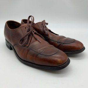 FLORSHEIM BROWN OXFORD MOC TOE TIE DRESS SHOES 8A